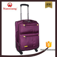 decent colorful fashion travel soft nylon fabric trolley luggage