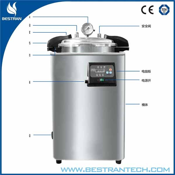 China BT-280KB24 24 liters portable pressure steam sterilizer water distiling autoclave