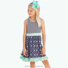 wholesale sailing anchor frock clothing boutique design kid without dress for 10 year girl