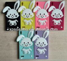 Cute bunny silicone case cover for Huawei Ascend P6