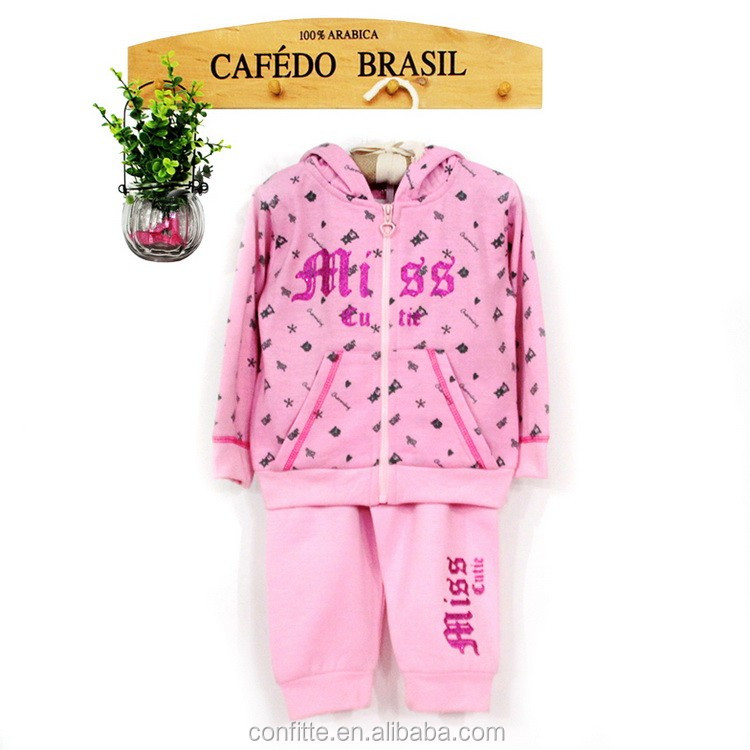 wholesale 2pc winter fashion soft girl baby set cltohes
