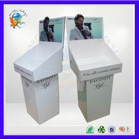 fire retail cardboard display stand ,finish dishwashing display shelf ,fire floor stand display
