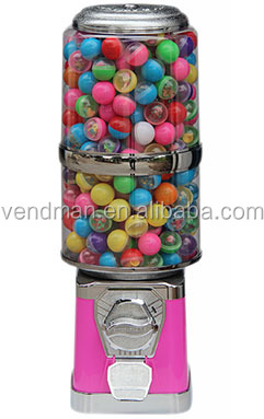 Extended Round Gumball/Candy Vending Machine TR522
