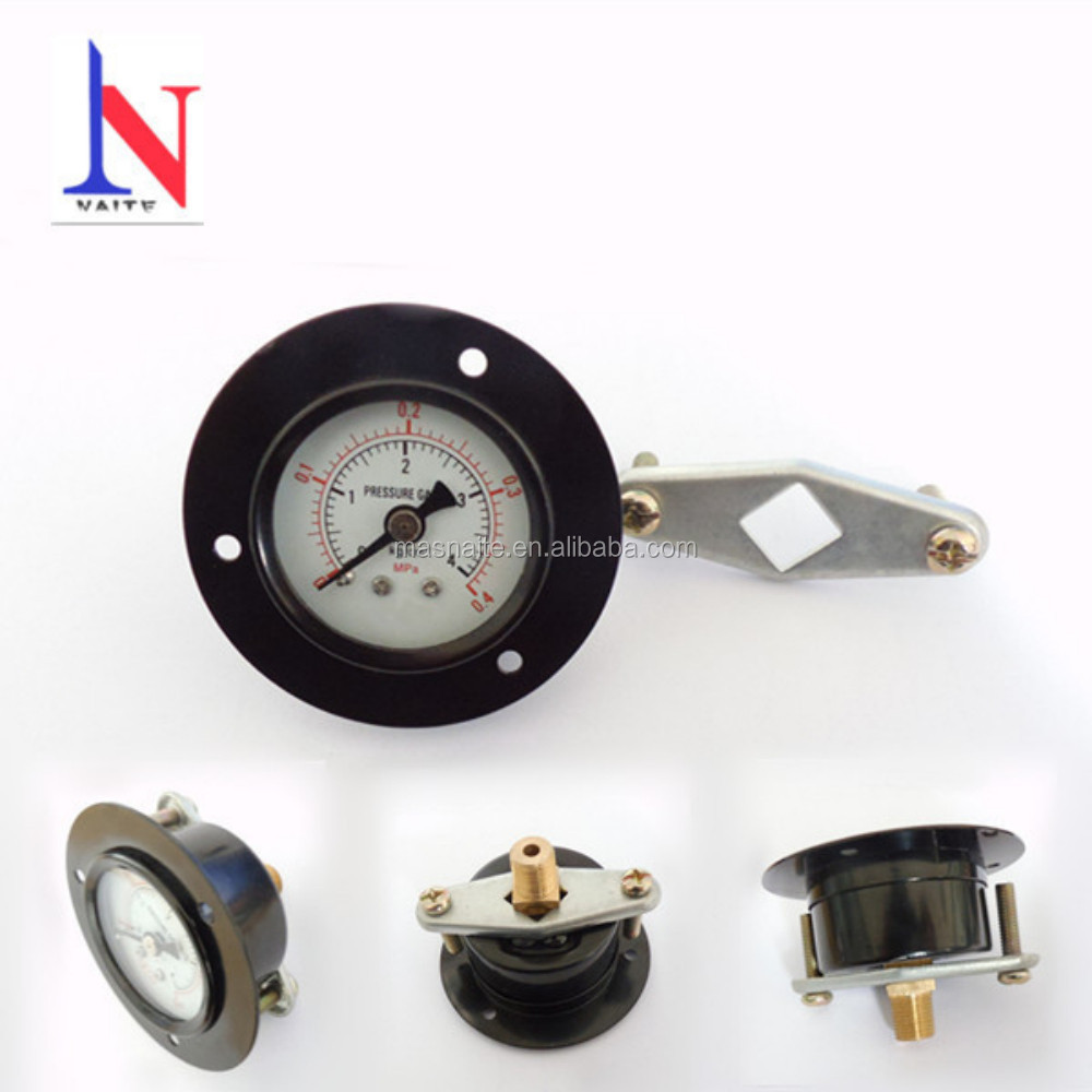 Dry Model Panel Mounting Pressure Gauges with Back Connection and U Clamp