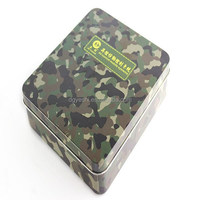 Top grade cheap wholesale camouflage printing packing tin box
