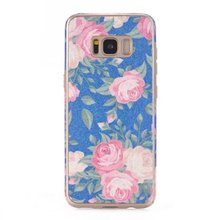 Rose Pattern Case for Samsung Galaxy S8,For Galaxy S8 TPU+PU Cover Case