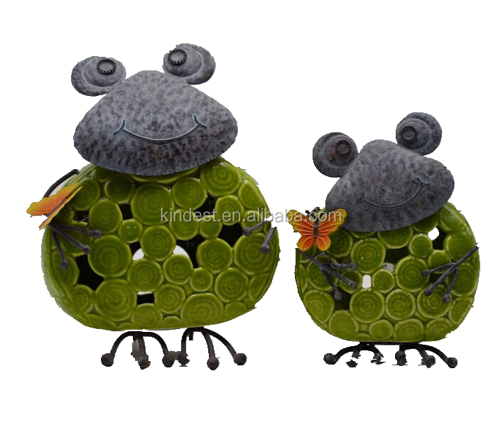 metal cute frog for decor with high quality, new arrival!!