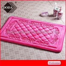 Cheap best selling anti slip pvc backing memory foam bathroom rug