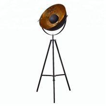 Hollywood matt black / white golden tripod lamp vintage classic floor <strong>lighting</strong>