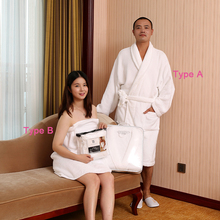 100% Cotton Mature Men And Women Lovers Sexy Sleeveless Home And Hotel White Terry Cloth Bathrobe Made In China