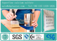 Superfine dihydrate calcium sulfate as chemical fillers for paint and plastic