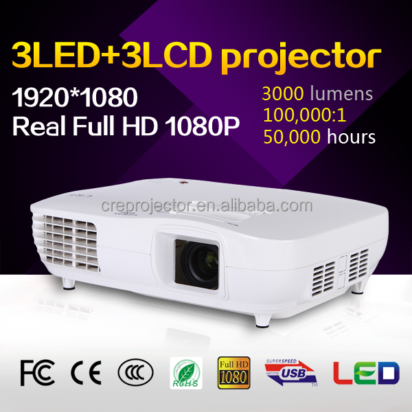 CRE x2000 3000 Lumens 1920x1080P Analog TV LED <strong>Projector</strong>