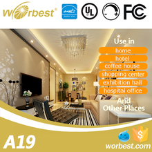 Home lighting Dimmable UL listed A19 9W day white led lights bulbs for home
