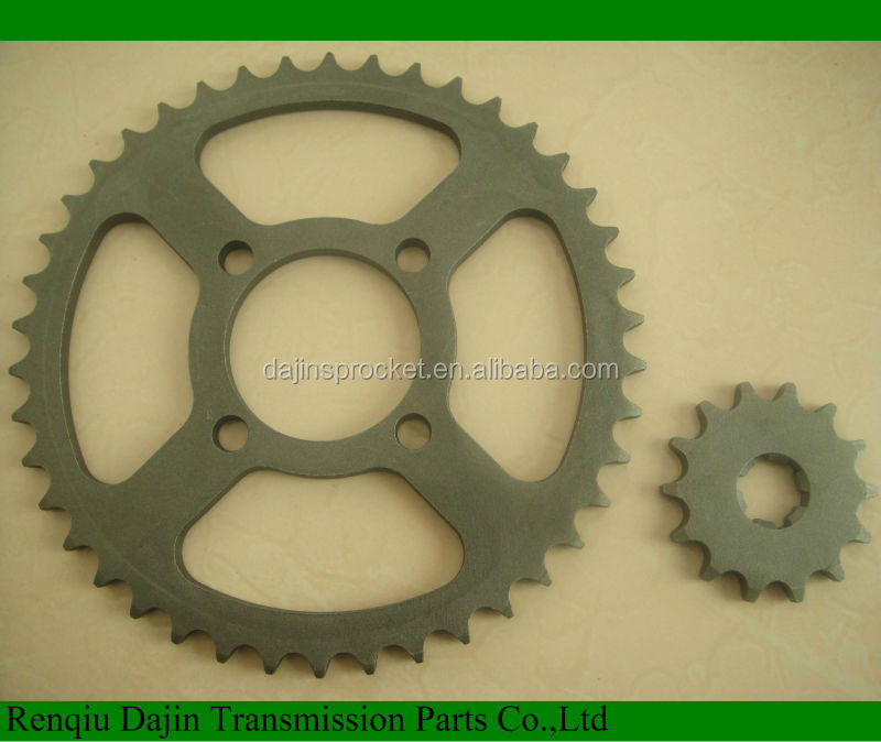 Dajin 1023 motorcycle part /motorcycle parts chain sprocket/suzuki ax100 parts