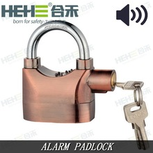 Aluminium Alloy/Zinc Alarm Antique Brass/Copper KINBAR Security Padlock Alerts with Alarm
