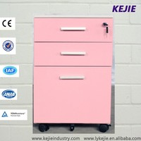 Japan Kawaii Style Pink Office USed Small Furniture Drawers Cabinet Dental Pedestal Drawer Cabinet