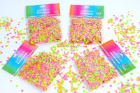wedding and festival 8mm round one bag mix color party confetti