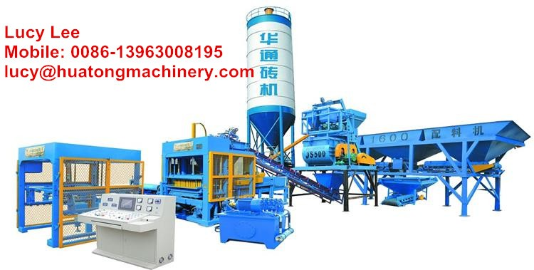 QT5-15 Semi-automatic Concrete Brick Block Laying Machine for Sale