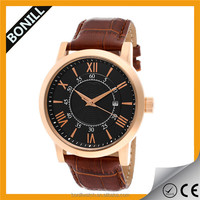 Rose gold palting pin buckle stainless steel design imported japan movement quartz watch sr626sw with date