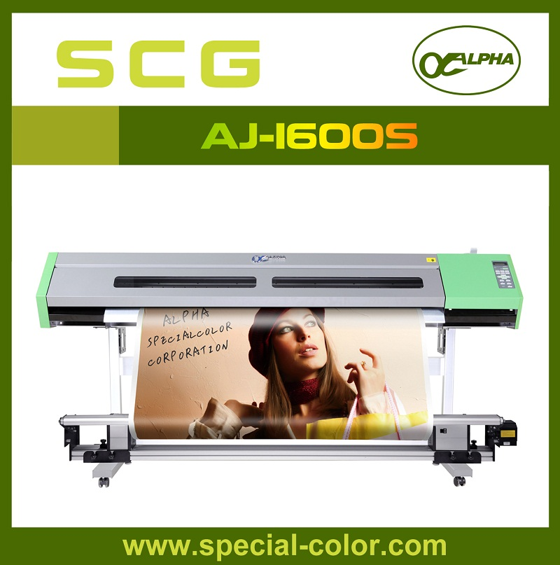 Hot!!!ALPHA 1600MM DX5 Print Head Eco Solvent Printing Machine