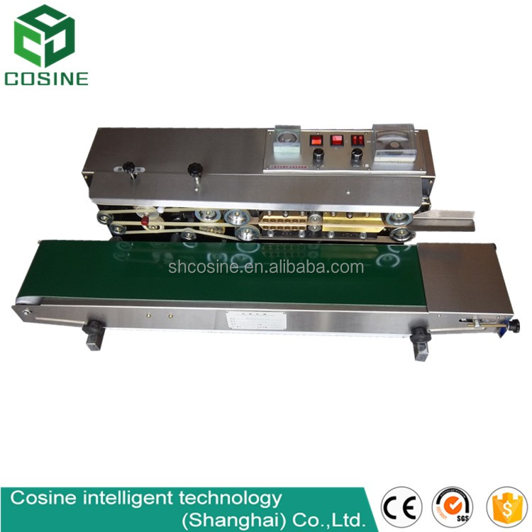 continuous small snack food pouch sealing machine