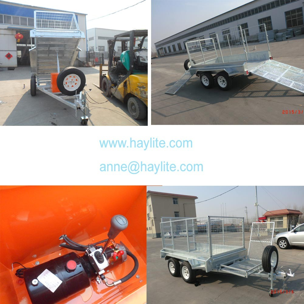 galvanized heavy duty semi box trailer for hot sale