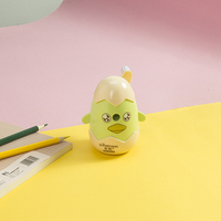 ABS Material Factory helix manual pencil sharpener Plastic Funny Egg shape office stationary Pencil Sharpener for kids