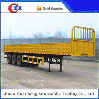 3 axle 40t drop flat cargo deck semi trailer motorcycle