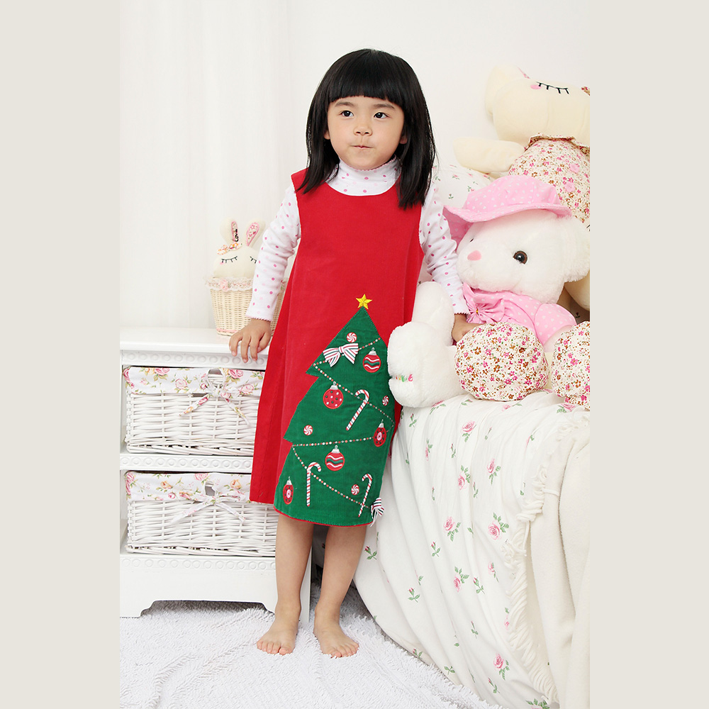Costume Christmas Hand Smocked Embroidered Girls Dresses