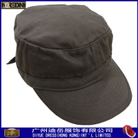 Hot sale plain cotton military cap dark green army fashion baseball cap