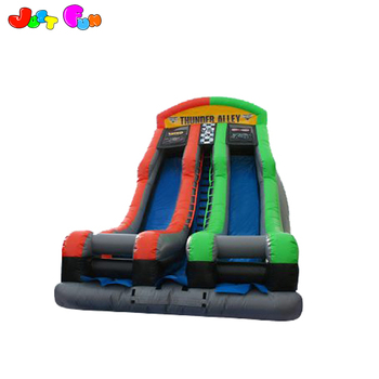 Cheap price 22 ft dual lane commercial or party use inflatable dry slide for  kids and adults
