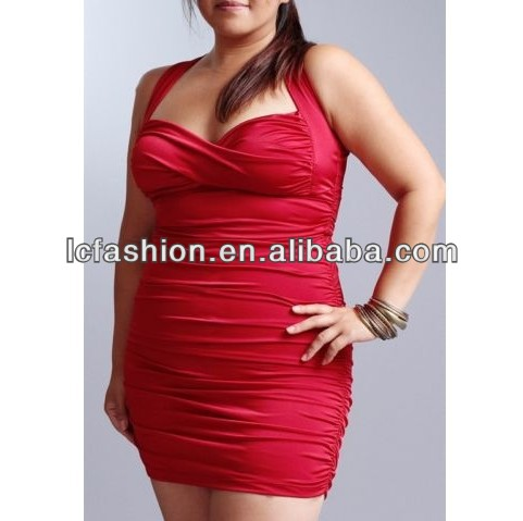 2016 Hign Quality Fat Woman Sexy Bandage Dress Plus Size Clothing