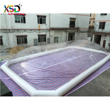 large clear dome tent / Factory made transparent PVC inflatable swimming pool cover