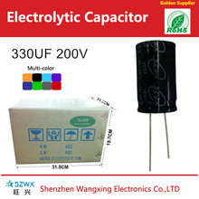 Direct sale 330UF 200V Aluminum electrolytic capacitor from manufacturer