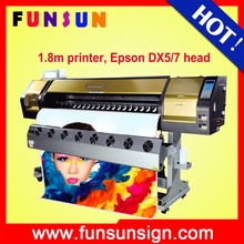 hot selling printer Funsunjet FS-1802G 1.8m permanent ink printer with two Dx5 head 1440 dpi