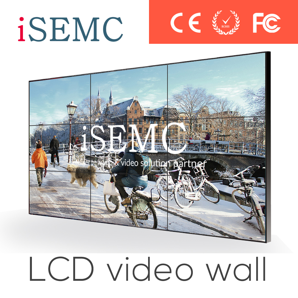 Video wall List 2015 New 50 inch LCD Video Wall unit with super narrow bezel 4K resolution