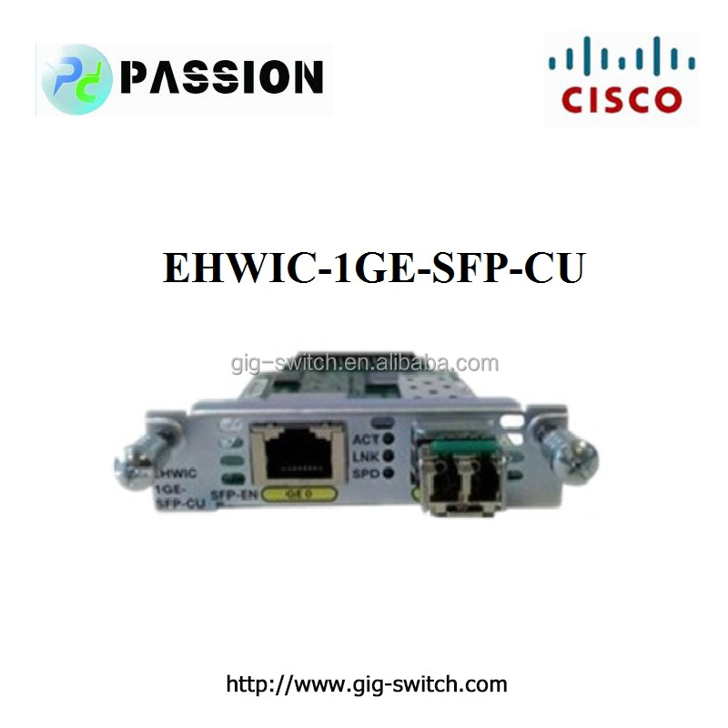 EHWIC-1GE-SFP-CU Cisco 1900 2900 3900 Router EHWIC WAN Card