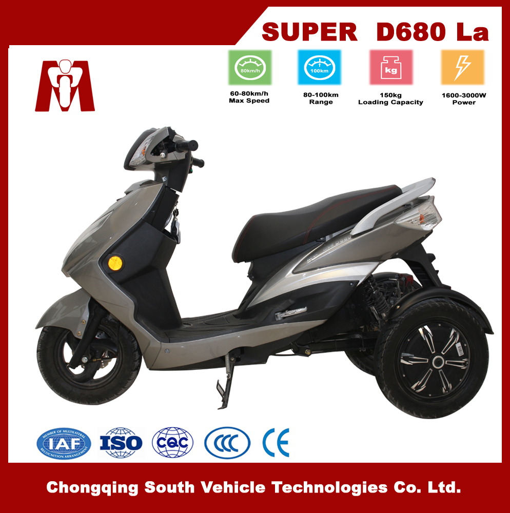 Super D680,Most popular Factory price wholesale electric 3 wheels motorcycle/tricycle/vehicle