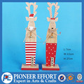 New Product Wooden Christmas reindeer Decoration with Red Bell
