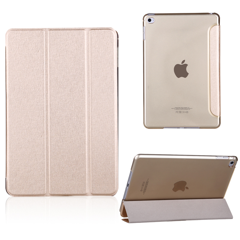 Gold Luxury Smart Magnetic Leather Stand Cover Case for iPad 2 3 4