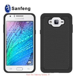 Durable Silicone and PC material Shockproof case mobile cell phone back cover for samsung galaxy j7