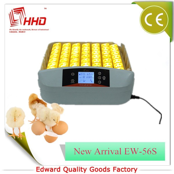 2016 Fully Automatic HHD EW-56S eggs hatching machine with egg turning motor for incubator