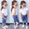 Model and fashion European floral baby girl clothing wholesale kids girl cool boutique clothing (ulik)