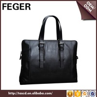 trend men handbag black genuine leather men laptop bag