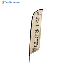 Custom logo print teardrop beach flag advertising flying banner