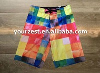 MEN'S DIAMOND DOBBY SUBLIMATION TRANFSER PRINT BOARDSHORTS