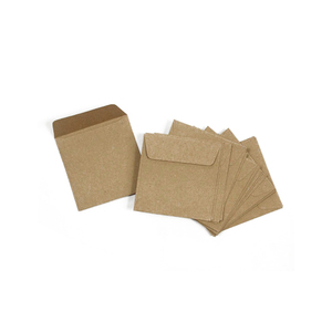 Mini Small 100% Recyclable Biodegradable Brown Kraft Paper Seed Envelopes