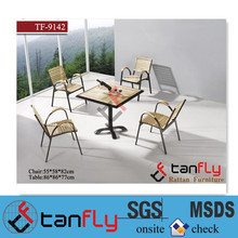 Outdoor/indoor furniture Poly Rattan Wood Dining Chairs