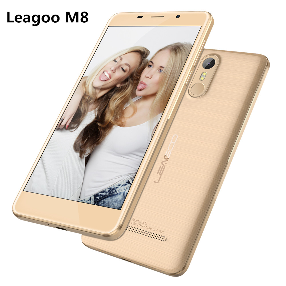 "Original Leagoo M8 Android 6.0 MT6580A 5.7""HD Quad Core 2GB RAM 16GB ROM 13.0MP 3500mah Fingerprint Smartphone"