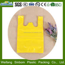 High quality HDPE multi-color printing plastic t shirt shopping bag discount